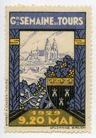 CINDERELLA : FRANCE - GRANDE SEMAINE DE TOURS, 1929 - Cinderellas
