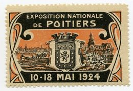 CINDERELLA : FRANCE - EXPOSITION NATIONALE DE POITIERS, 1924 - Cinderellas