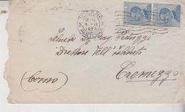 Storia Postale Regno 1923 Milano Per  Tremezzo Como  Busta - Storia Postale