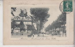 FRANCE . 08 ARDENNES . CHARLEVILLE - MEZIERES : BOULEVARD DES DEUX VILLES EN 1910 - Charleville