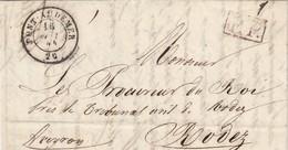 LETTRE 1844 EN PP PONT-AUDEMER TAXE 6 - 1801-1848: Vorläufer XIX