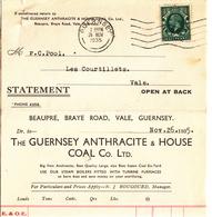 Guernsey - Folded Invoice/Statement Dated Nov. 1935 - Royaume-Uni