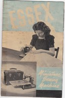 TECHNICAL OLD BOOK - ESSEX - MINIATURE SEWING MACHINE - Use  Instructions - Component Parts - Technical