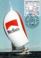 SAINT PIERRE ET MIQUELON (SPM) - CARTE (CM) De 1987 N° 477 - Cartes-maximum