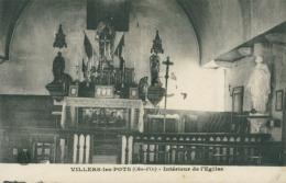 21 VILLERS LES POTS / Intérieur De L'Eglise / - France
