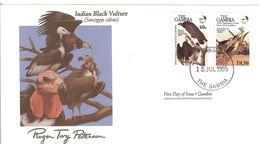 FDC GAMBIA  Birds  /   Oiseaux, Lettre De Première Jour,  SARCOGYPS CALVUS - Vogels