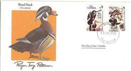 FDC GAMBIA  Birds  /  Oiseaux, Lettre De Première Jour,  AIX SPONSA - Vogels