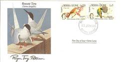 FDC SIERRA LEONE  Birds  /  Oiseaux, Lettre De Première Jour, STERNA DOUGALLII - Zangvogels