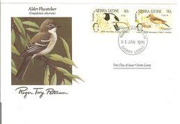 FDC SIERRA LEONE  Birds  /  Oiseaux, Lettre De Première Jour, EMPIDONAX ALNORUM - Zangvogels