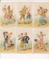 LOT /SERIE De 6 Chromos ( Danse Avec Polichinelle Arlequin Etc... ) Série à Identifier ( Voir Recto Verso ) - Autres