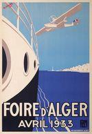 PLM Foire D'Alger 1933 - Postcard Reproduction - Publicité