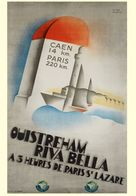Ouistreham Riva Bella 1934 - Postcard Reproduction - Publicité