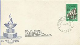 Cocos Islands 1965 ANZAC 50th Anniversary,First Day Cover - Cocos (Keeling) Islands