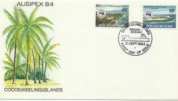 Cocos Islands 1984 Ausipex 84 FDC - Cocos (Keeling) Islands