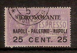(Fb).Regno.V.E.III.Posta Aerea.1917.Espresso Urgente Soprastampato.25c Su 40c Usato (636-16) - 1900-44 Vittorio Emanuele III