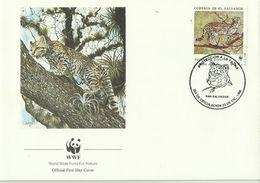 El Salvador,1988 WWF ,Tiger Ocelote,souvenir Cover - W.W.F.