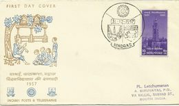 India 1957 100th Anniversary FDC - FDC