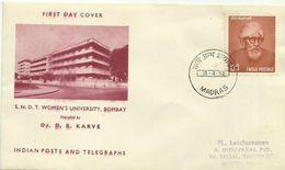 India 1958 Women's University FDC - FDC