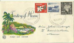 Nauru 1964 Definitives Wesley FDC - Nauru