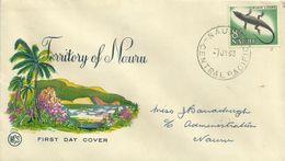 Nauru 1967 Definitives 8d Black Lizard  Wesley FDC - Nauru