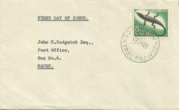 Nauru 1967 Definitives 8d Black Lizard FDC - Nauru
