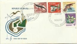 Nauru 1968 Definitives ,4c,7c 30c,35c FDC - Nauru