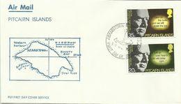 Pitcairn Islands 1974 Churchill Birth Centenary FDC - Timbres