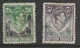 Northern Rhodesia,GVIR, 1938, 2/6, 5/= Used - Rhodesia Del Nord (...-1963)