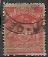 Southern  Rhodesia / BSACo, 1892, 2d Vermillion, Fiscal Used - Rhodesia Del Sud (...-1964)