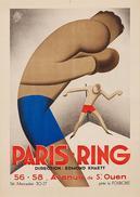 Boxing Paris-Ring 1930 - Postcard - Poster Reproduction - Publicité