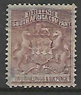 Southern  Rhodesia / BSACo, 1892, 2/6 Grey-purple, Fisally Used - Rhodesia Del Sud (...-1964)