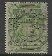 Southern  Rhodesia / BSACo, 1892, £5 Sage Green,,  Fiscally Used, Perfin25.1.19 + UMTALI S RHODESIA C.d.s. Date Unclear - Southern Rhodesia (...-1964)