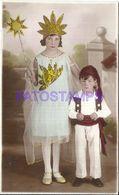 86020 REAL PHOTO COSTUMES CARNIVAL DESGUISE VASCO & GIRL SUN POSTAL POSTCARD - Spain