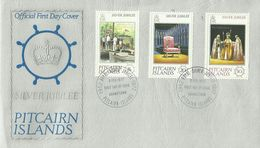 Pitcairn Islands 1977 Silver Jubilee First Day Cover - Stamps
