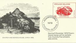 Pitcairn Islands 1979 Prepaid Card Sent To Australia - Stamps