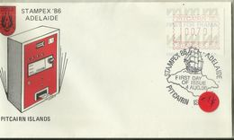 Pitcairn Islands 1986 Stampex 86 Frama FDC - Stamps