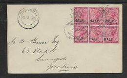 S.Africa, Cover , ,Natal 6 X Half /1d, Crested Oval D.s. SOUTH AFRICA ROYAL TOUR 22 JUL 25 > PRETORIA  22JUL 25 - South Africa (...-1961)
