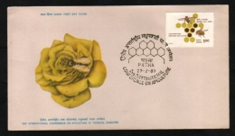 India  1980  Honeybees  Roses  International Conference On Apiculture  PATNA  FDC   #  05938    D Inde - Abeilles