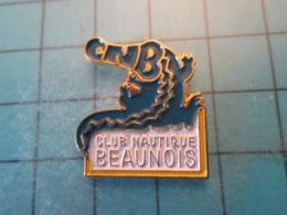 Pin412e Pin's Pins : Rare Et Belle Qualité : CROCODILE CLUB CNB CLUB NAUTIQUE BEAUNOIS  BEAUNE - Swimming