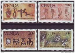 D90819 Venda South Africa 1984 Rock Paintings HISTORY Of WRITING MNH Set - Afrique Du Sud Afrika RSA Sudafrika - Venda
