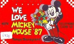 Télécarte Japon / 110-33345 - DISNEY - TOKYO DISNEYLAND - WE LOVE MICKEY * 1987 (5728) Japan Phonecard - Disney