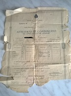 COMUNE DI GUIGLIA SCUOLA ELEMENTARE MISTA ATTESTATO DI COMPIMENTO DEL CORSO ELEMENTARE INFERIORE ANNO 1922 - Diplomi E Pagelle