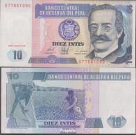 Peru Pick-Nr: 129 Bankfrisch 1987 10 Intis - Perú