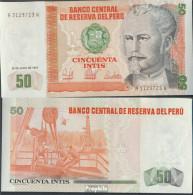 Peru Pick-Nr: 131b Bankfrisch 1987 50 Intis - Peru