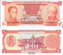 Venezuela Pick-number: 70b Uncirculated 1989 5 Bolivares - Venezuela