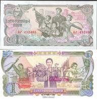 Nord-Korea Pick-Nr: 18c Bankfrisch 1978 1 Won - Corée Du Nord