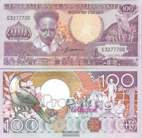 Suriname Pick-number: 133a Uncirculated 1986 100 Gulden - Surinam