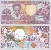 Suriname Pick-Nr: 133a Bankfrisch 1986 100 Gulden - Suriname