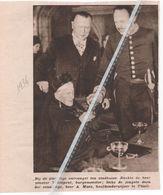 THIELT...1936...EEUWELINGE A. MAES ONTVANGEN DOOR SENATOR THIENPONT - Vieux Papiers