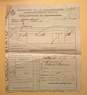 FERROVIE DELLO STATO 1928 BOLLETTINO CONSEGNA MOLINA-AQUILA - Europa